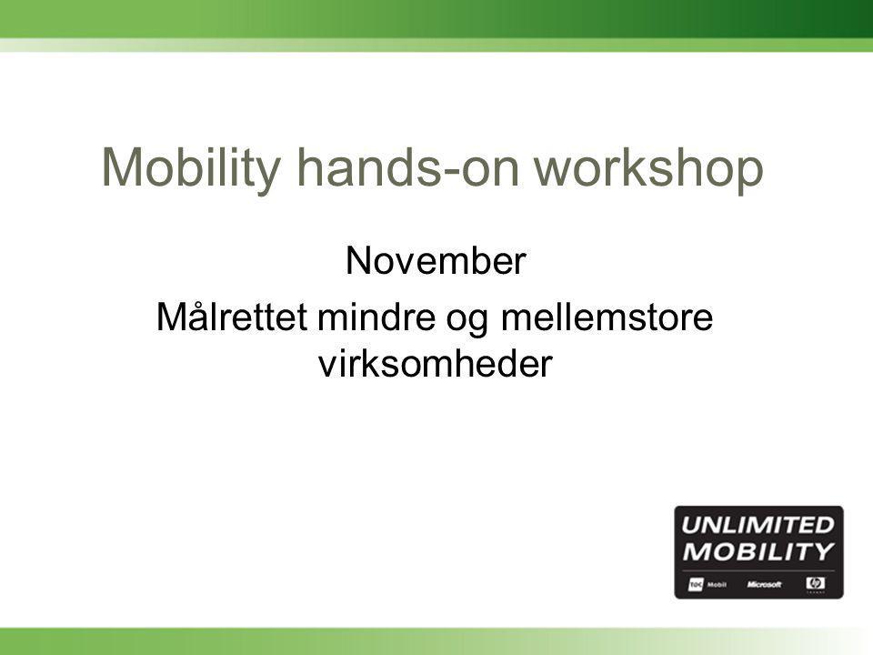 Mobility hands-on workshop November Målrettet mindre og mellemstore virksomheder