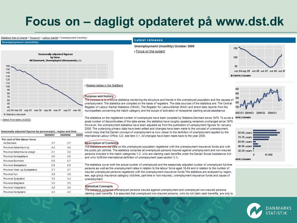 Focus on – dagligt opdateret på www.dst.dk