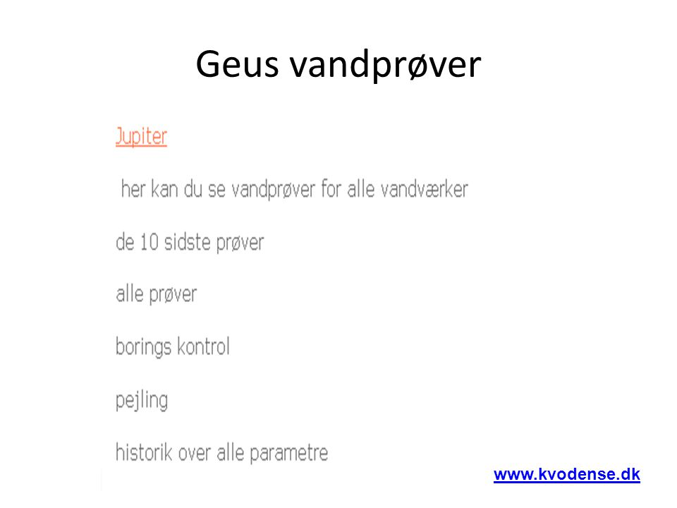 Geus vandprøver www.kvodense.dk