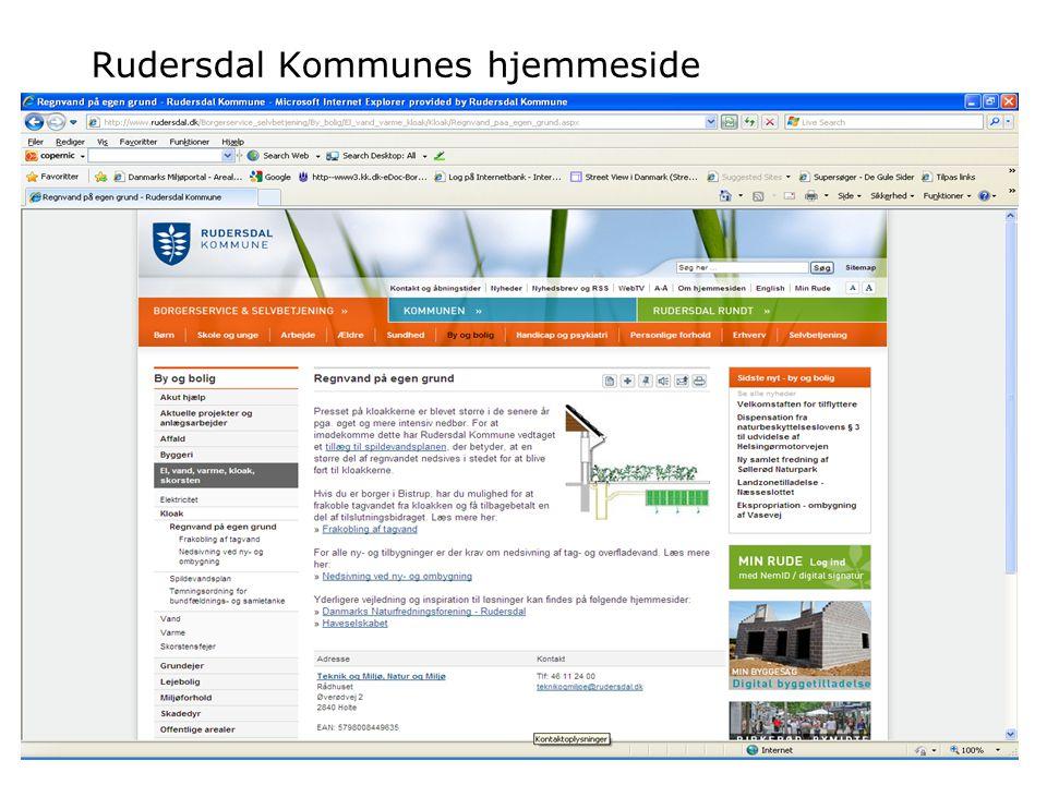 Rudersdal Kommunes hjemmeside