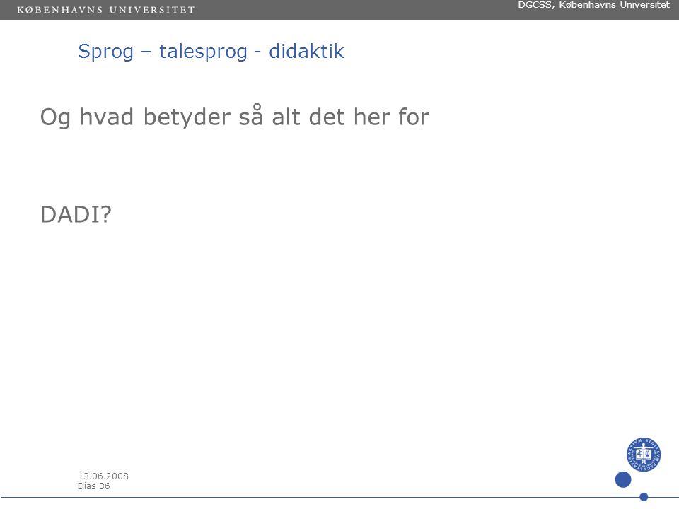 13.06.2008 Dias 35 DGCSS, Københavns Universitet The WC women compared