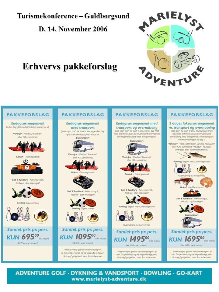 Turismekonference – Guldborgsund D. 14. November 2006 Erhvervs pakkeforslag