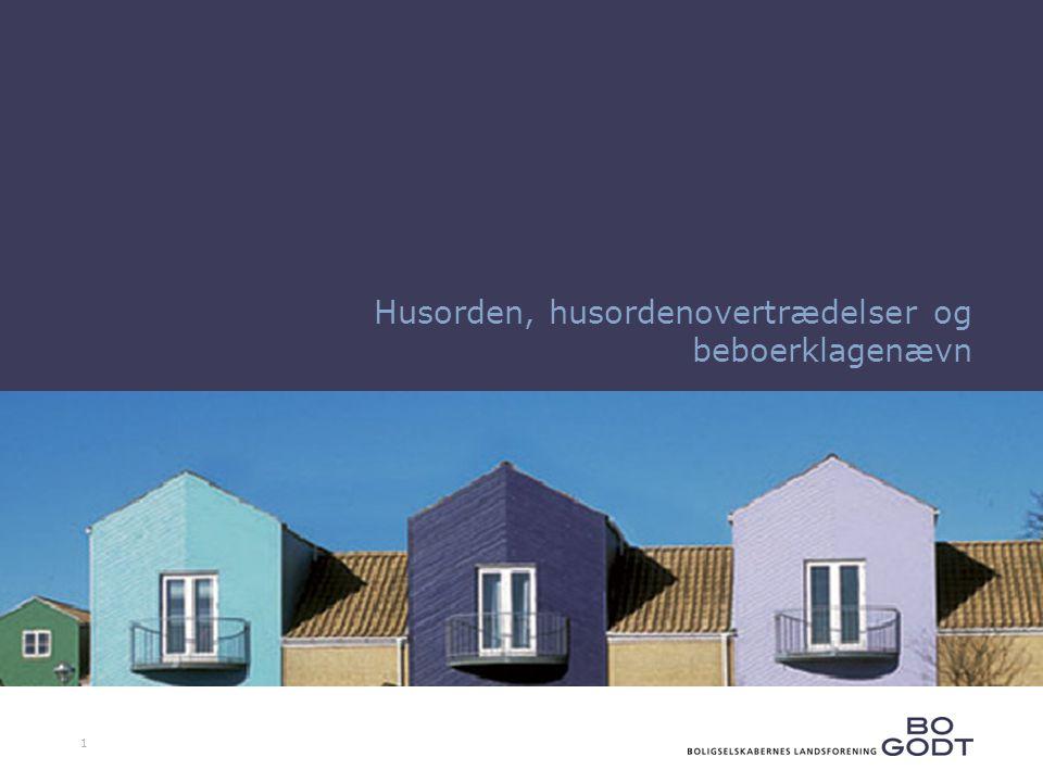 1 Husorden, husordenovertrædelser og beboerklagenævn