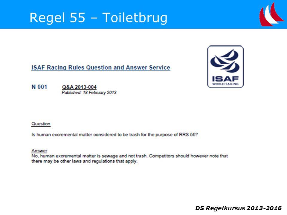Regel 55 – Toiletbrug DS Regelkursus 2013-2016
