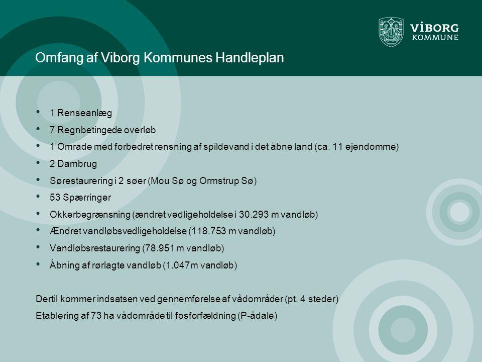 Omfang af Viborg Kommunes Handleplan • 1 Renseanlæg • 7 Regnbetingede overløb • 1 Område med forbedret rensning af spildevand i det åbne land (ca.