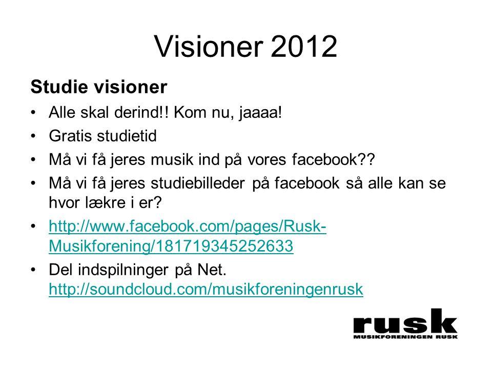 Visioner 2012 Studie visioner •Alle skal derind!. Kom nu, jaaaa.