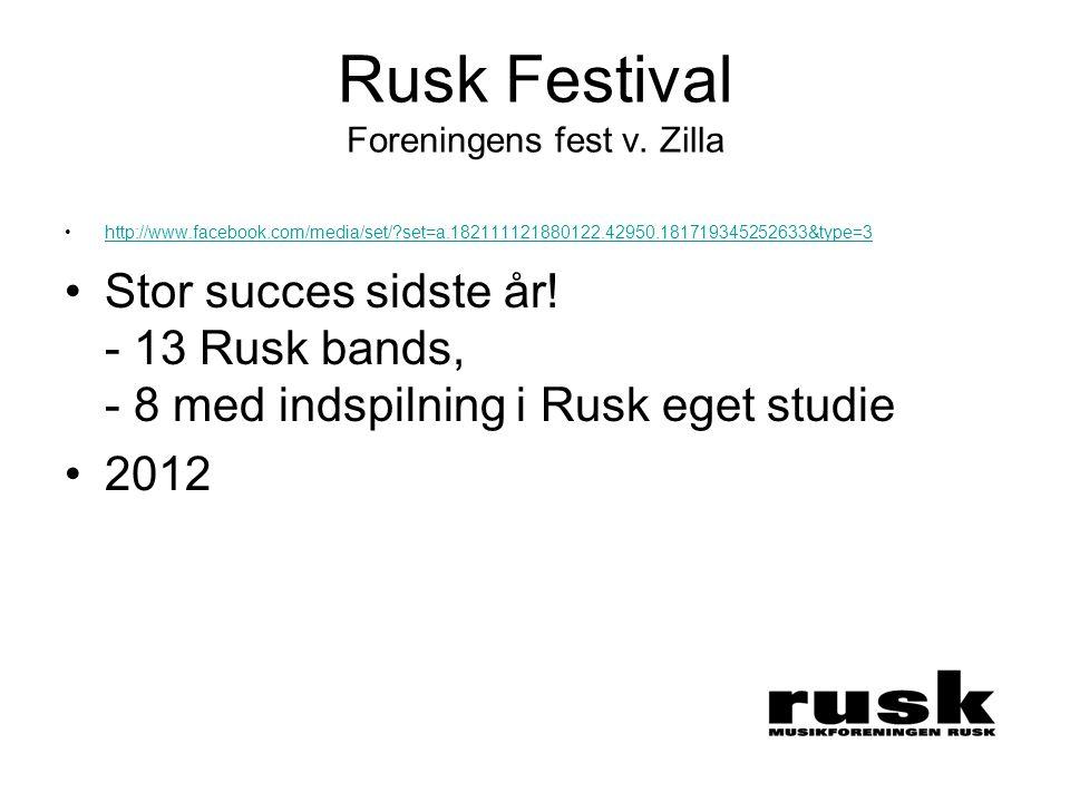 Rusk Festival Foreningens fest v.