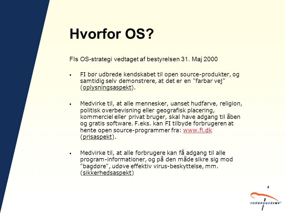 Hvorfor OS. FIs OS-strategi vedtaget af bestyrelsen 31.