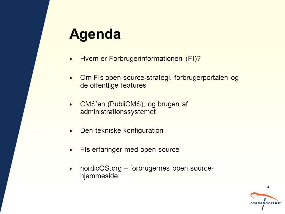 Agenda  Hvem er Forbrugerinformationen (FI).