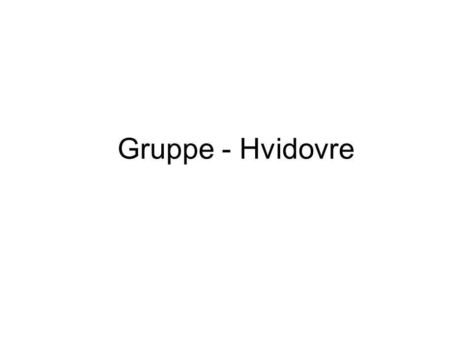 Gruppe - Hvidovre