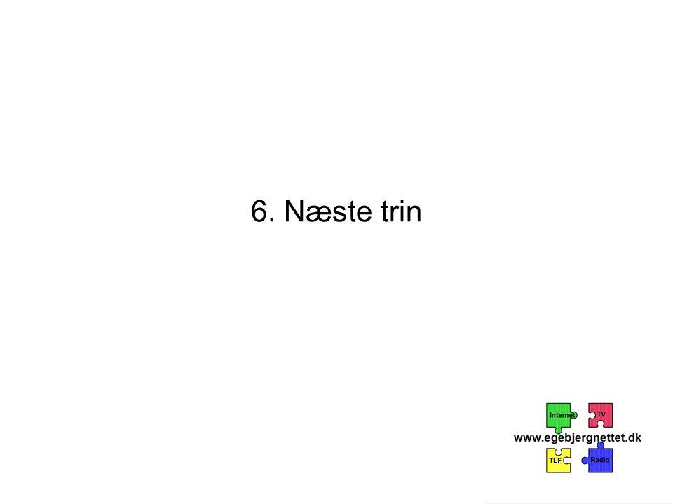 6. Næste trin
