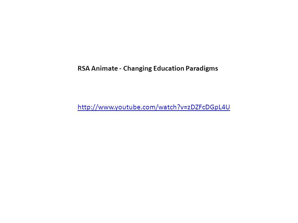 http://www.youtube.com/watch v=zDZFcDGpL4U RSA Animate - Changing Education Paradigms