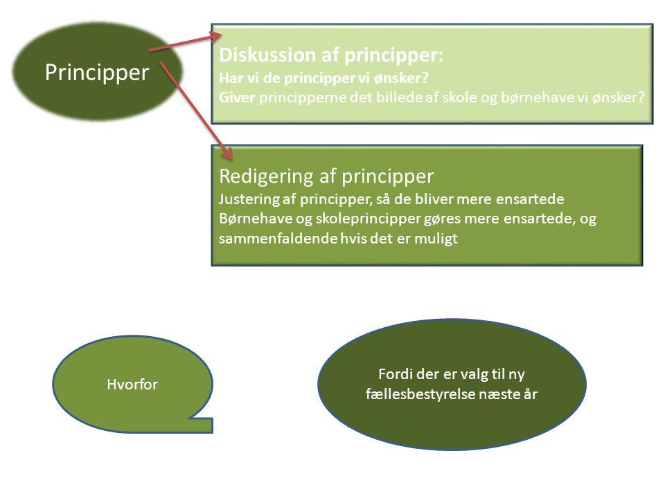 Diskussion af principper: Har vi de principper vi ønsker.