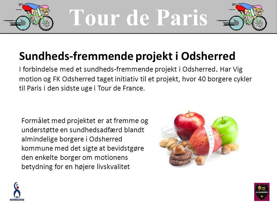 Sundheds-fremmende projekt i Odsherred I forbindelse med et sundheds-fremmende projekt i Odsherred.