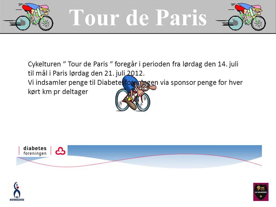 Cykelturen Tour de Paris foregår i perioden fra lørdag den 14.