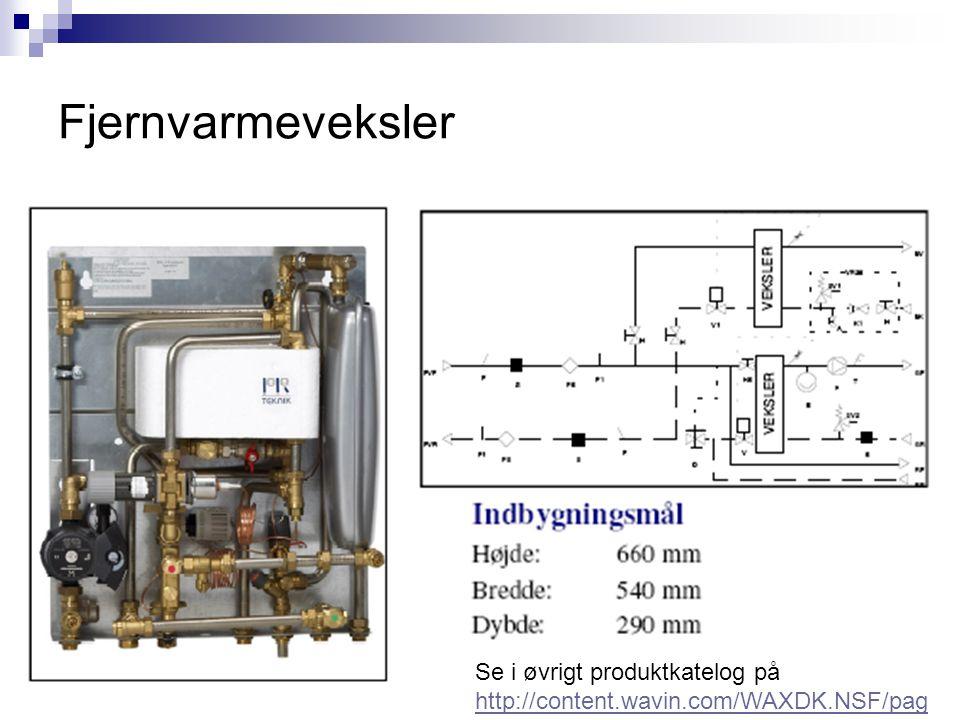 Fjernvarmeveksler Se i øvrigt produktkatelog på http://content.wavin.com/WAXDK.NSF/pag es/fjernvarmeloesninger_dec_2011DK/$FI LE/Fjernvarmebrochure_20