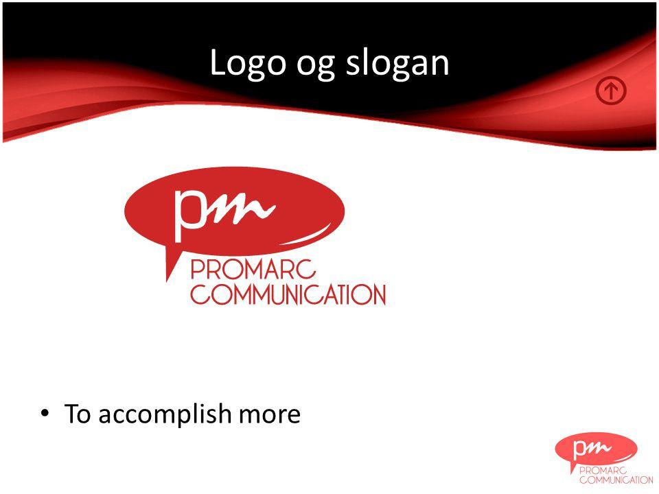 Logo og slogan • To accomplish more