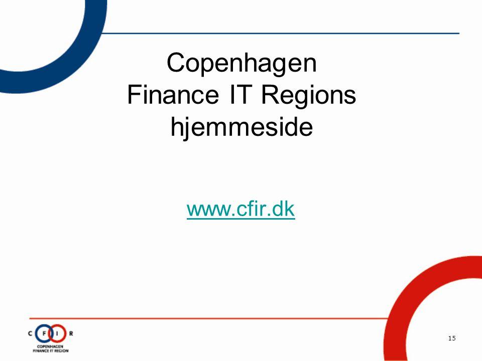 15 Copenhagen Finance IT Regions hjemmeside www.cfir.dk