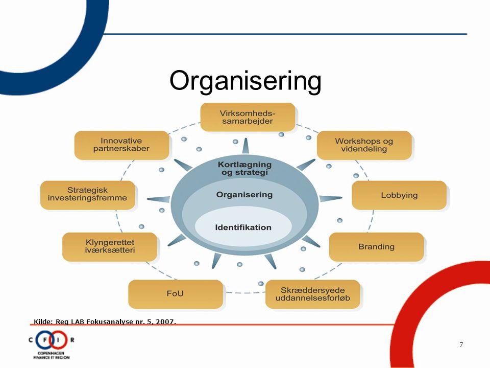 7 Organisering Kilde: Reg LAB Fokusanalyse nr. 5, 2007.