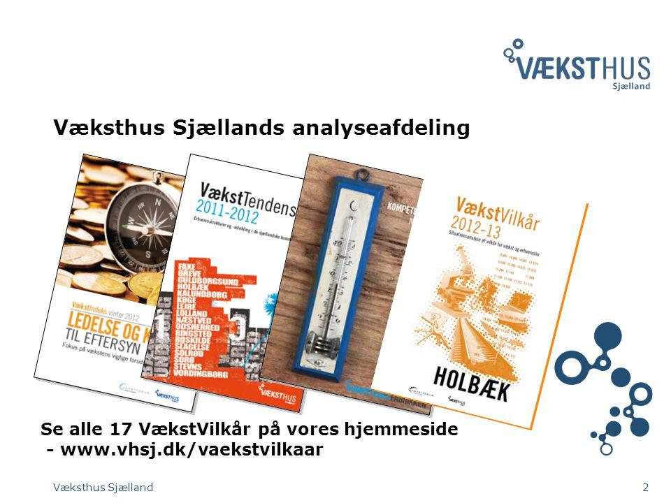 Væksthus Sjællands analyseafdeling Væksthus Sjælland2 Se alle 17 VækstVilkår på vores hjemmeside - www.vhsj.dk/vaekstvilkaar