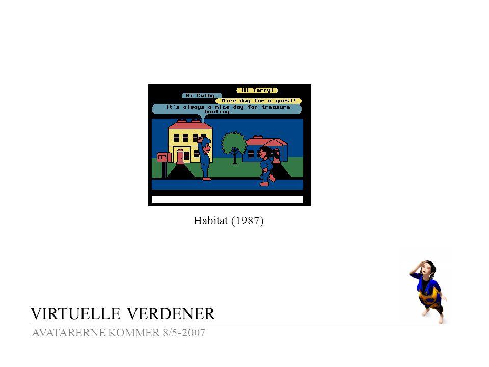 VIRTUELLE VERDENER AVATARERNE KOMMER 8/5-2007 Habitat (1987)