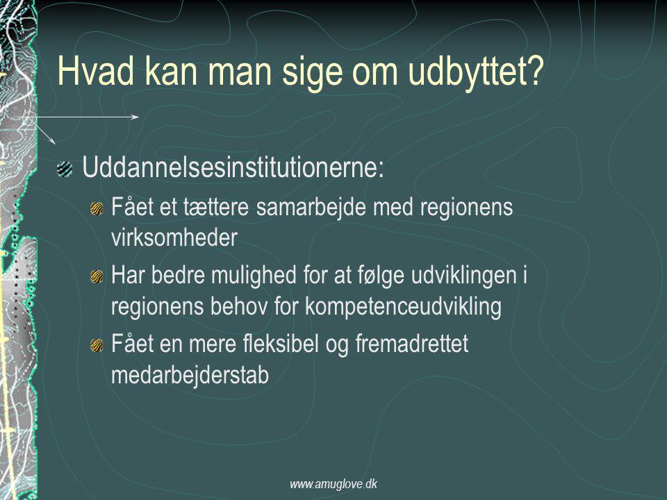 www.amuglove.dk Hvad kan man sige om udbyttet.