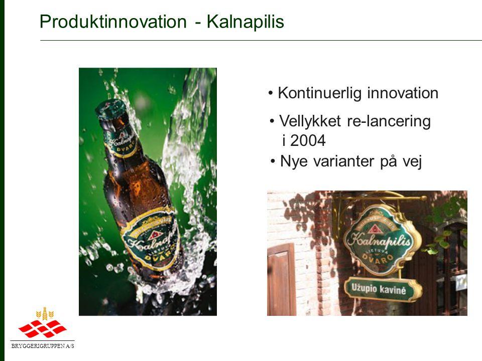 BRYGGERIGRUPPEN A/S Produktinnovation - Royal Red • En rigtig rød øl • Pilsnerstyrke • Lettere øltype med forfriskende kvalitet