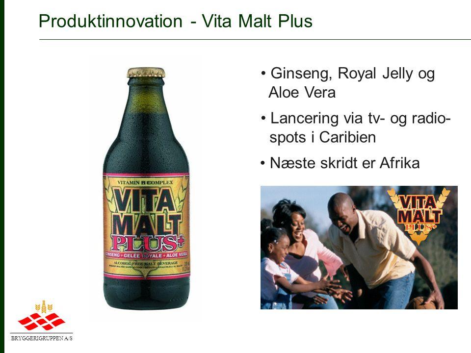 BRYGGERIGRUPPEN A/S Produktinnovation - Kalnapilis • Nye varianter på vej • Kontinuerlig innovation • Vellykket re-lancering i 2004