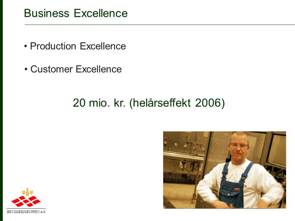 BRYGGERIGRUPPEN A/S Business Excellence forbedrer bundlinien