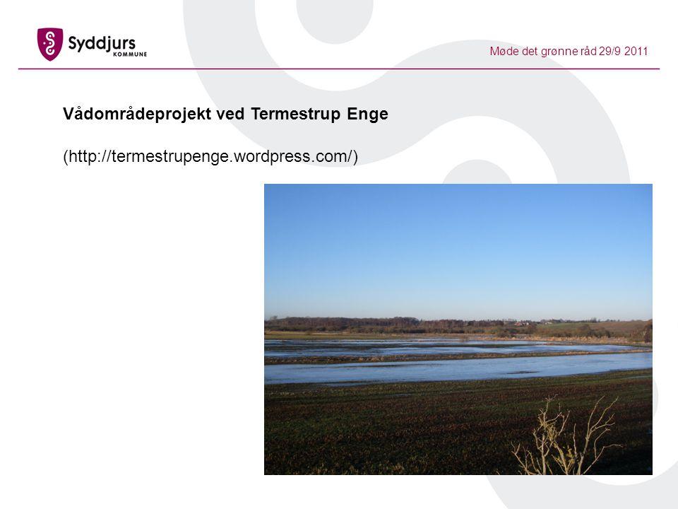 Møde det grønne råd 29/9 2011 Vådområdeprojekt ved Termestrup Enge (http://termestrupenge.wordpress.com/)