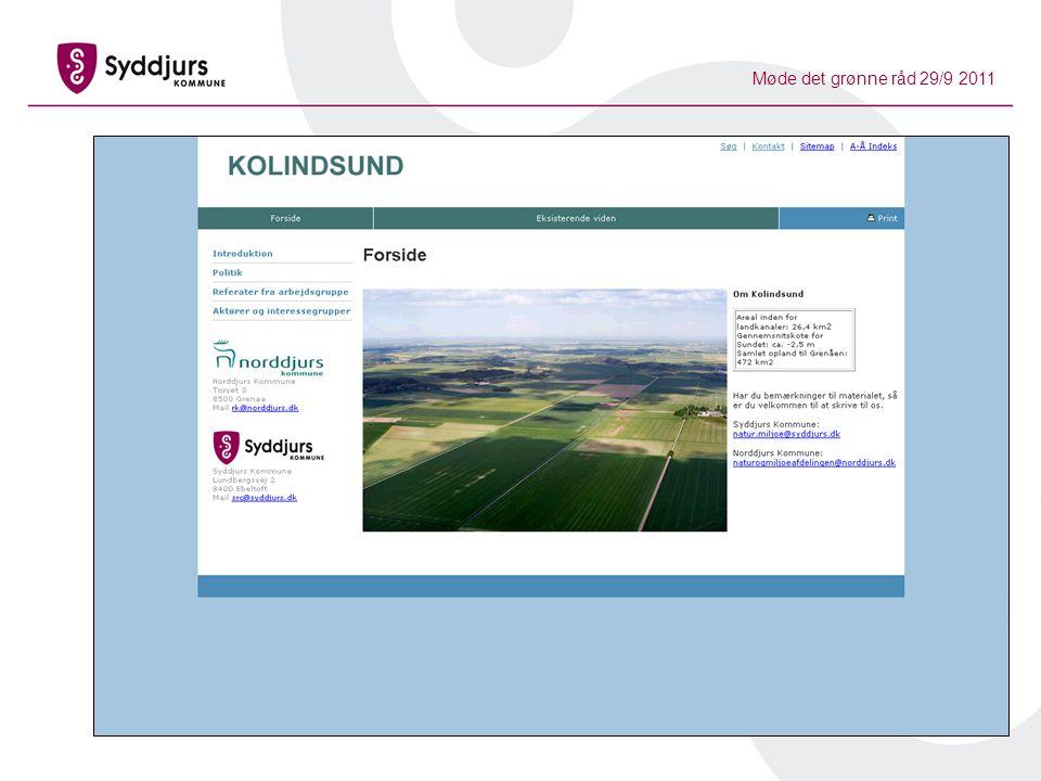 Møde det grønne råd 29/9 2011