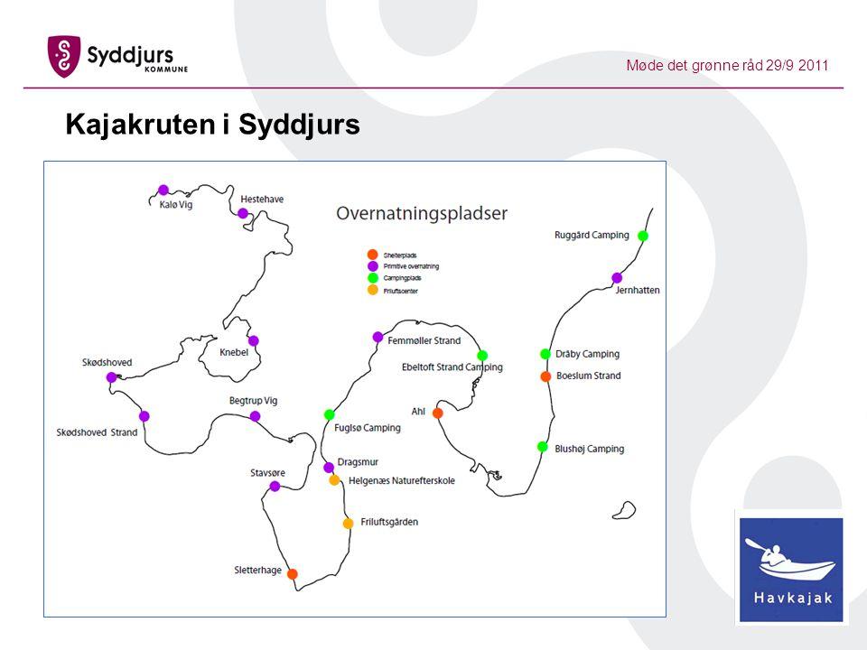 Møde det grønne råd 29/9 2011 Kajakruten i Syddjurs