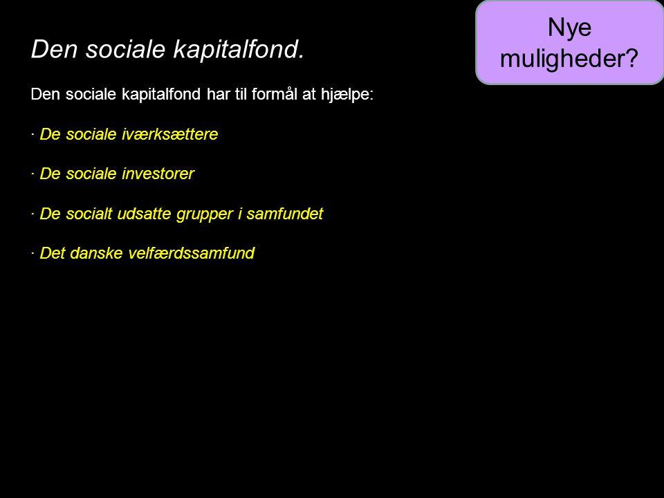 Den sociale kapitalfond.