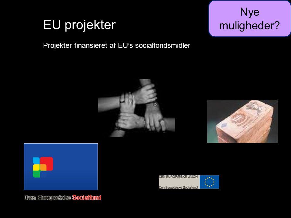 EU projekter Projekter finansieret af EU's socialfondsmidler Nye muligheder