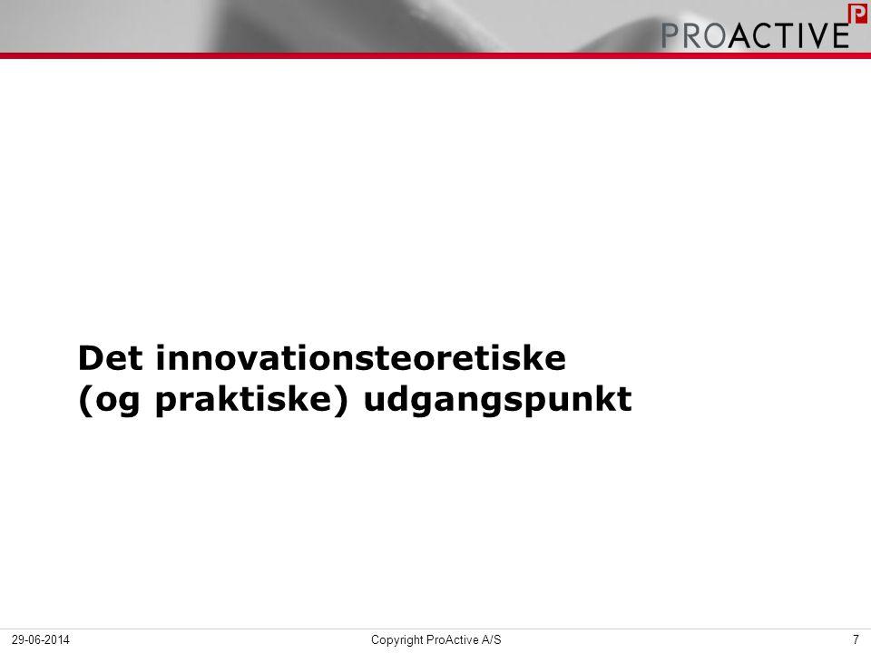 Det innovationsteoretiske (og praktiske) udgangspunkt 29-06-2014Copyright ProActive A/S7