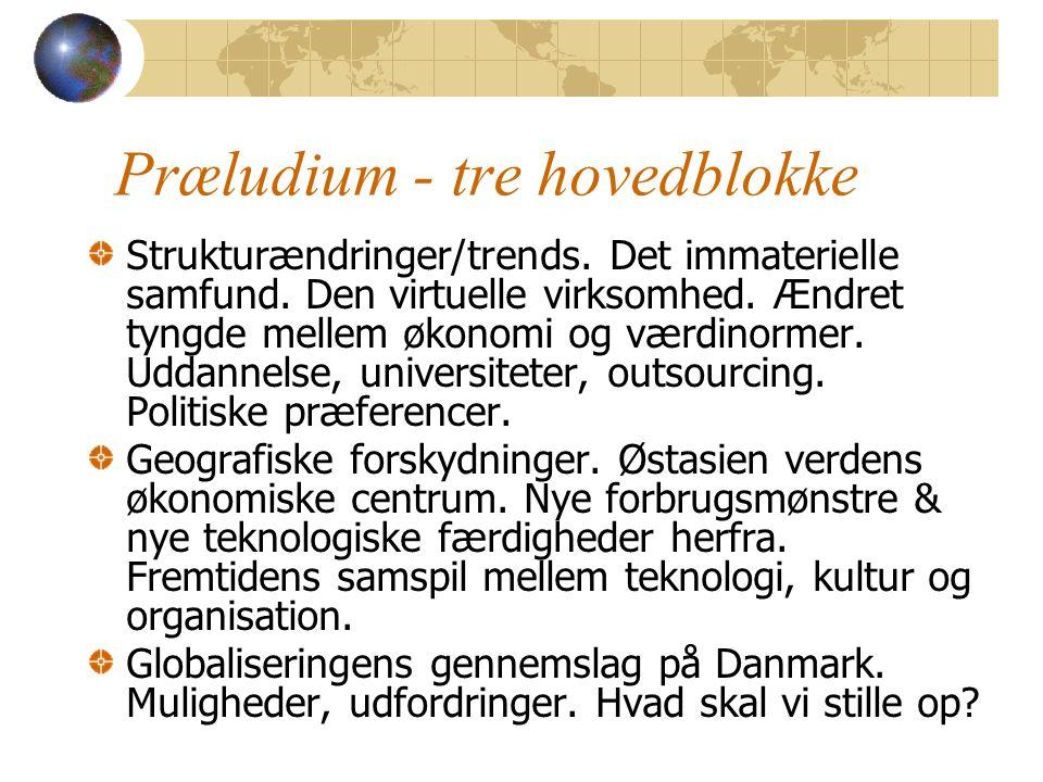 Præludium - tre hovedblokke Strukturændringer/trends.