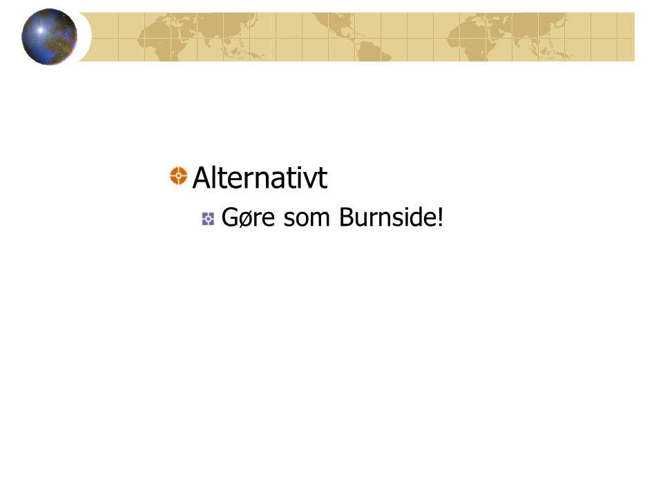 Alternativt Gøre som Burnside!