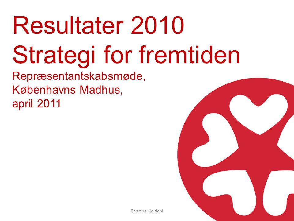 Resultater 2010 Strategi for fremtiden Repræsentantskabsmøde, Københavns Madhus, april 2011 Rasmus Kjeldahl