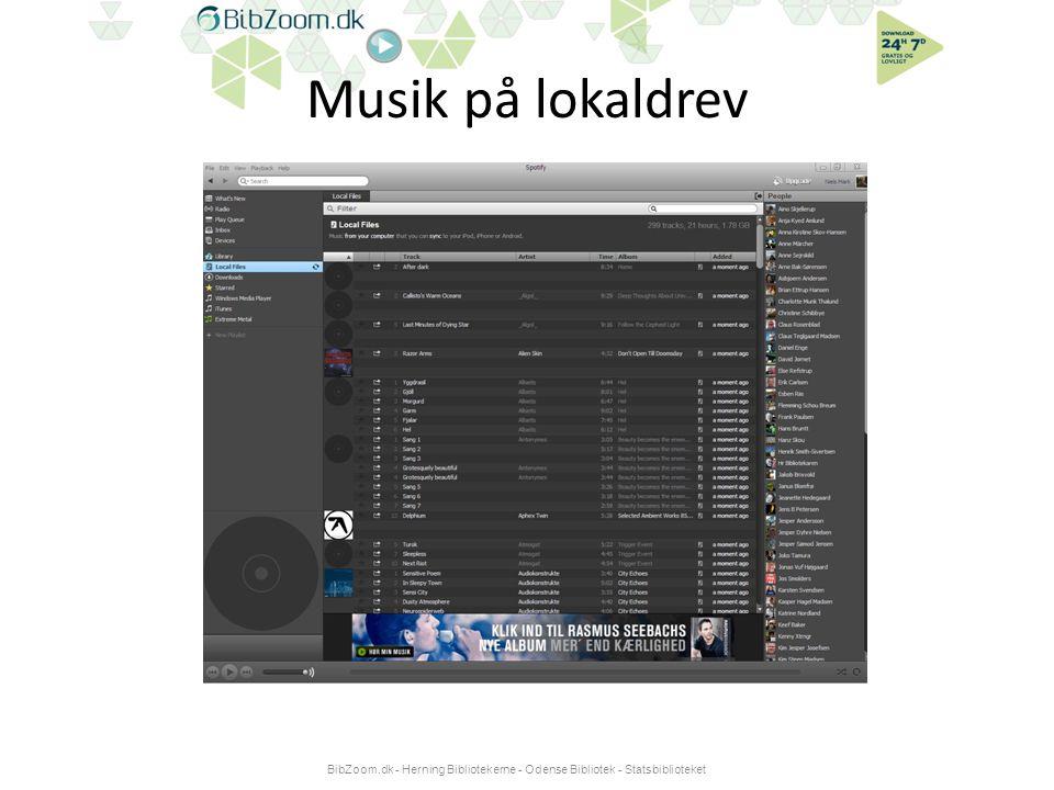 Musik på lokaldrev BibZoom.dk - Herning Bibliotekerne - Odense Bibliotek - Statsbiblioteket
