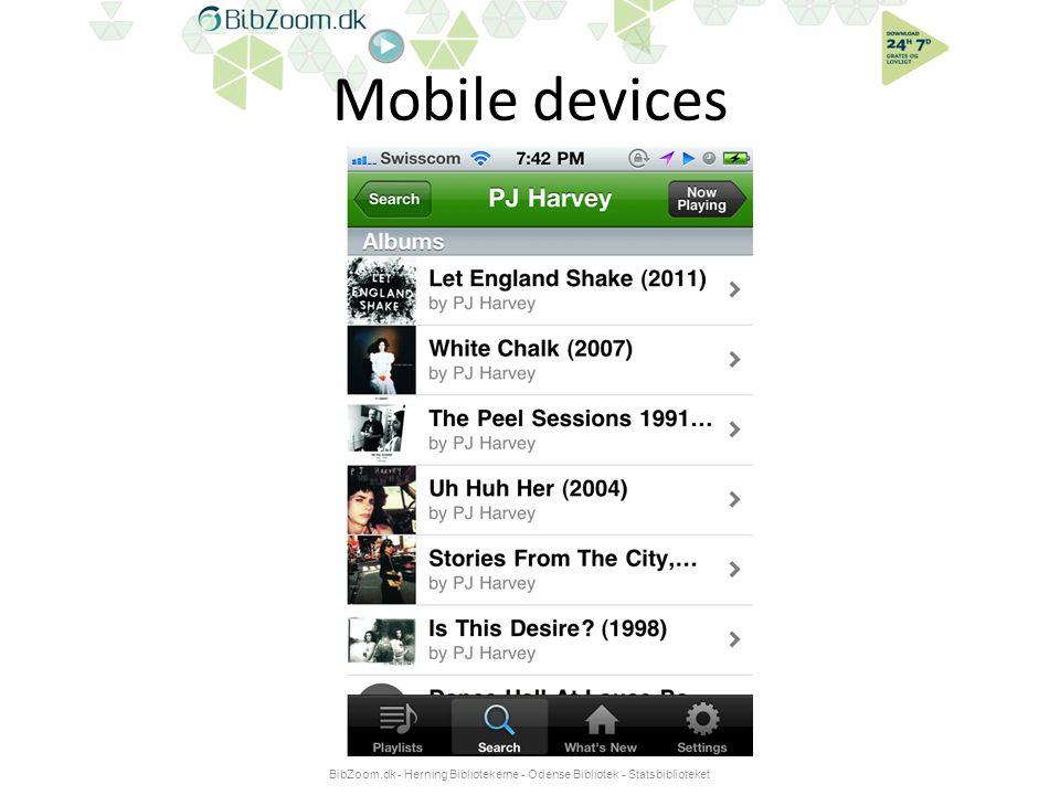 Mobile devices BibZoom.dk - Herning Bibliotekerne - Odense Bibliotek - Statsbiblioteket