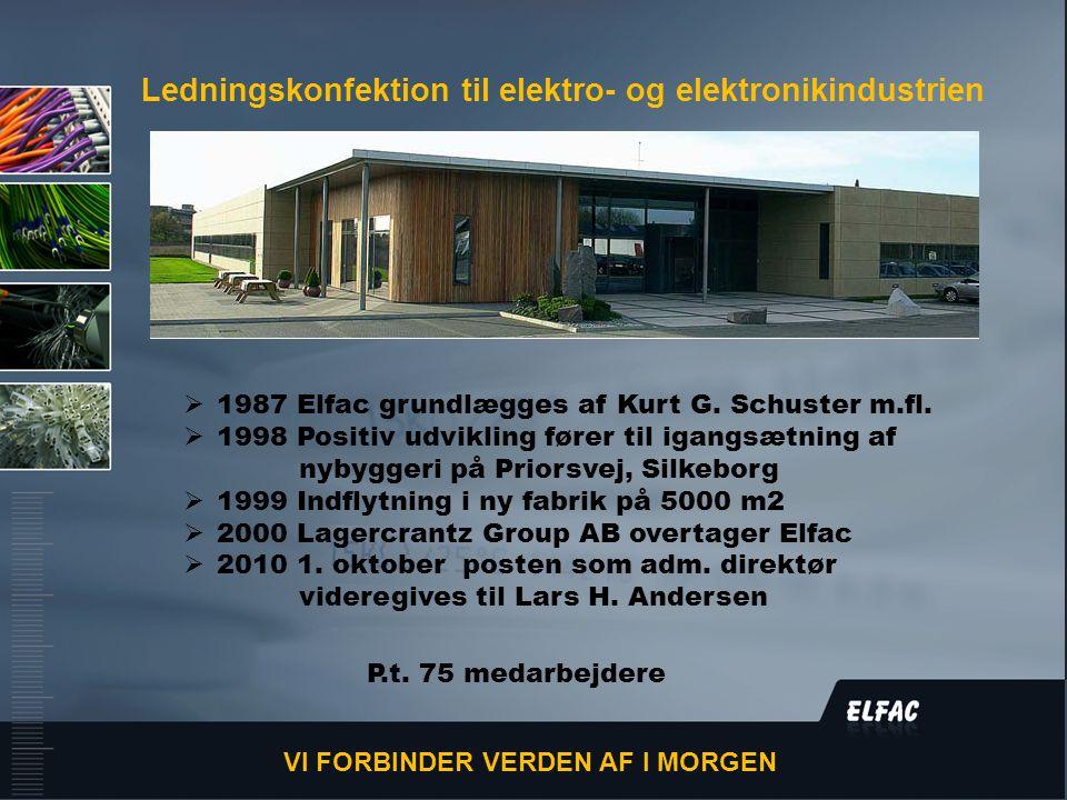DS/EN ISO9001:2008  1987 Elfac grundlægges af Kurt G.