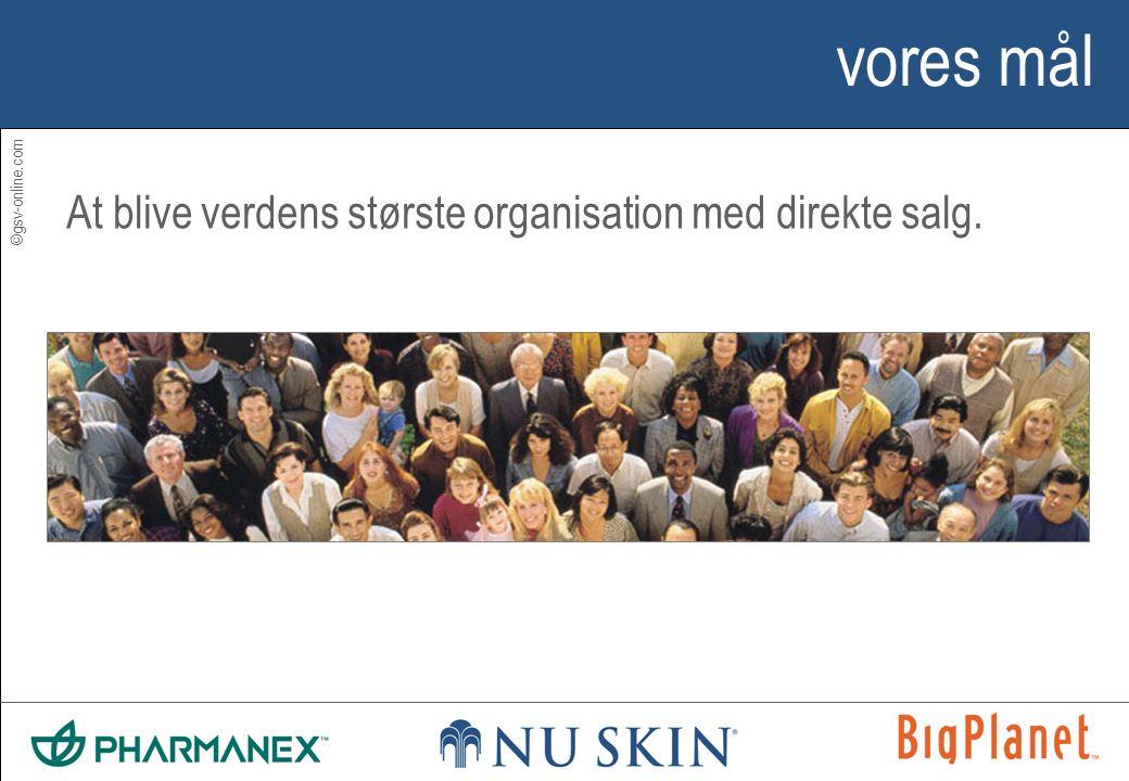 ©gsv-online.com vores mål At blive verdens største organisation med direkte salg.