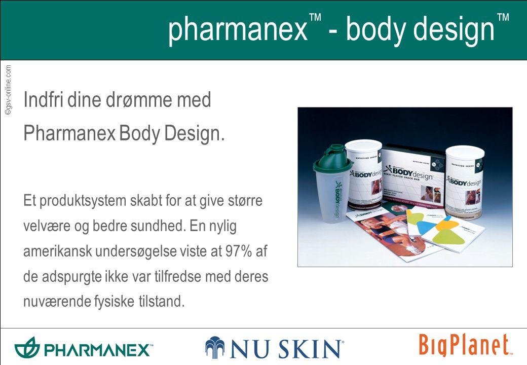 ©gsv-online.com pharmanex ™ - body design ™ Indfri dine drømme med Pharmanex Body Design.