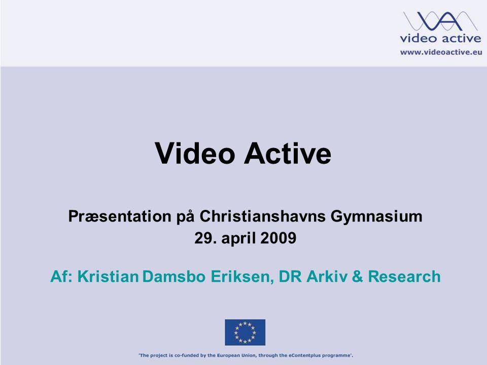 Video Active Præsentation på Christianshavns Gymnasium 29.