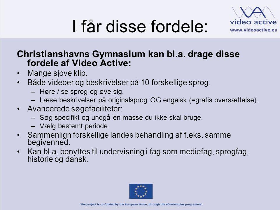I får disse fordele: Christianshavns Gymnasium kan bl.a.