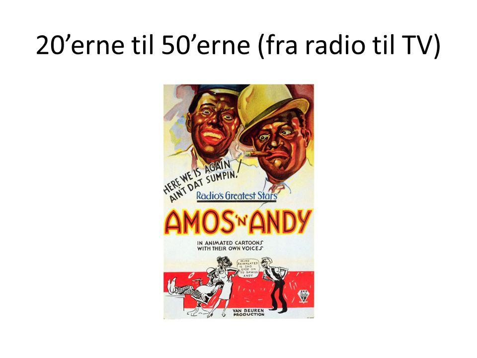 20'erne til 50'erne (fra radio til TV)