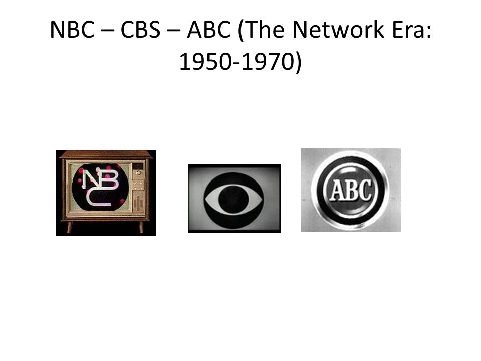 NBC – CBS – ABC (The Network Era: 1950-1970)