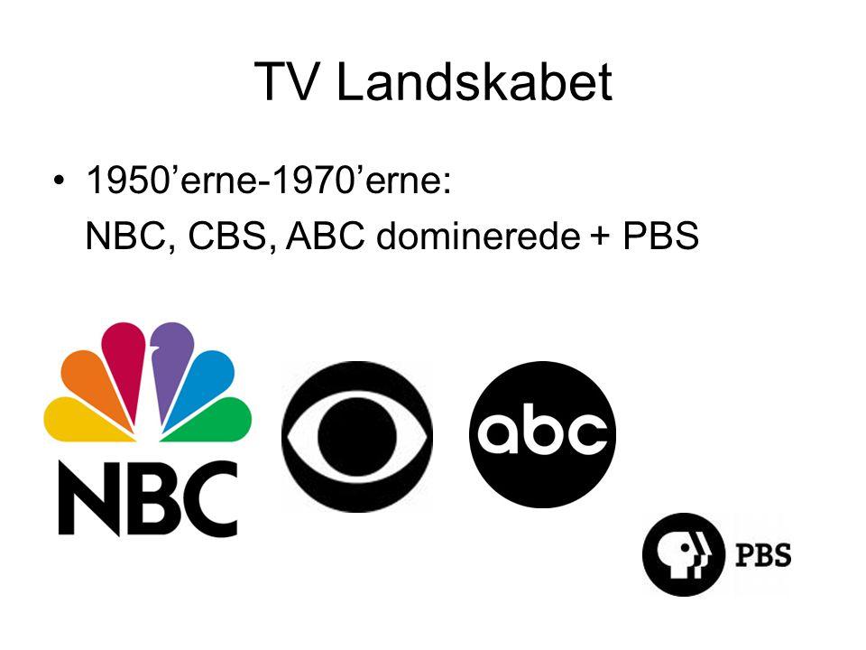 TV Landskabet •1950'erne-1970'erne: NBC, CBS, ABC dominerede + PBS
