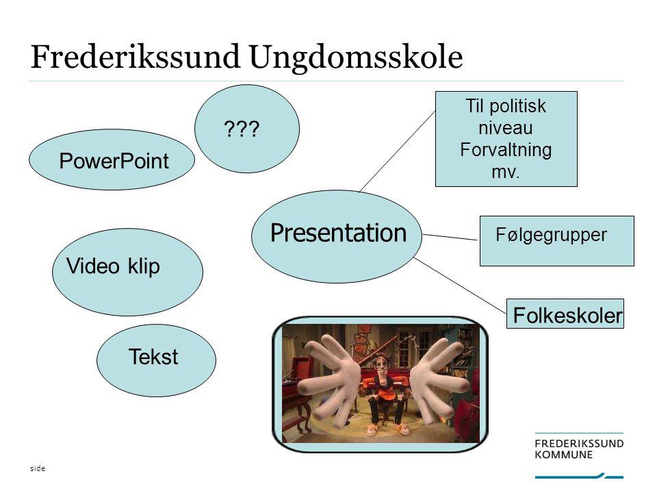 side Frederikssund Ungdomsskole Presentation Video klip PowerPoint Tekst .