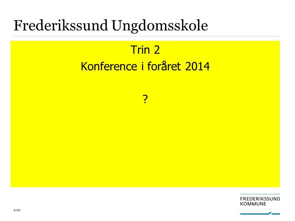 side Frederikssund Ungdomsskole Trin 2 Konference i foråret 2014